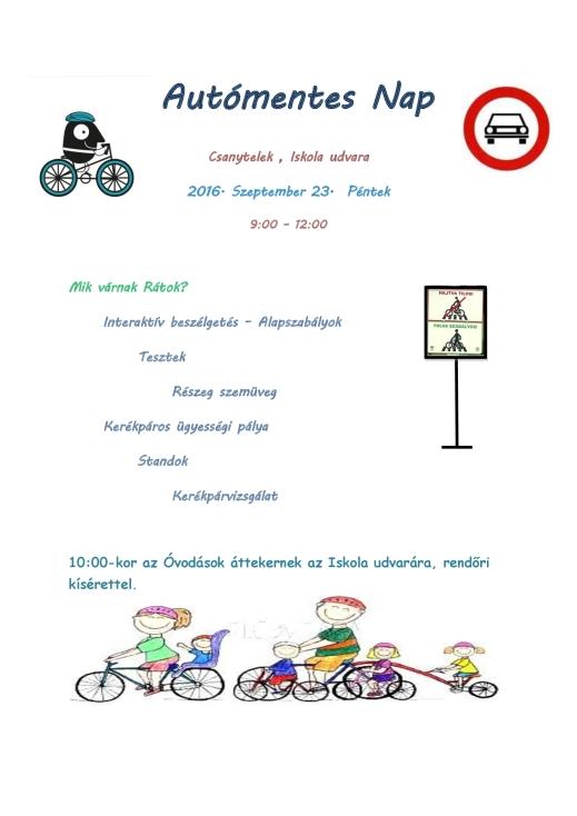 Autómentes Nap - Videók (2016-09-23)